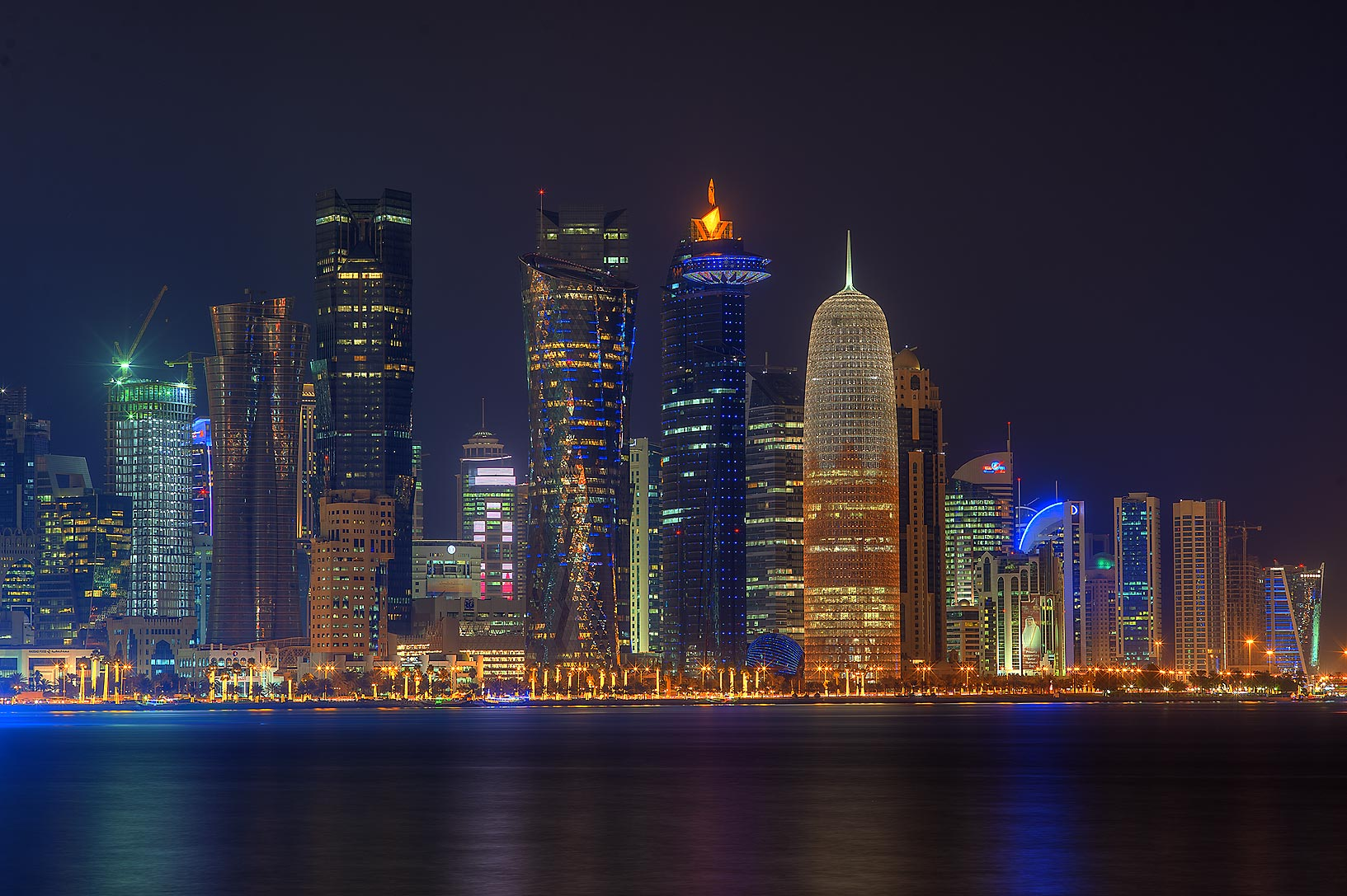 Doha's Fashinable Business District of West Bay